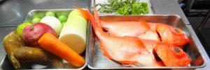 根菜各種と金目鯛