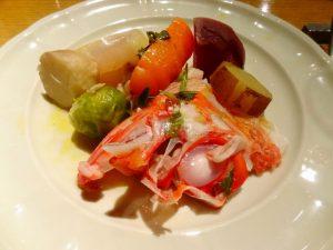ゆでた魚の香草風味レモンオリーブオイルソース(サルモリーリオソース)