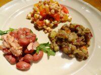 金時豆とツナのレモンオリーブオイルサラダ(手前左)