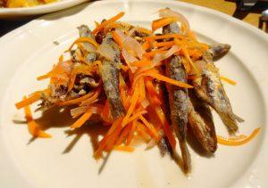 魚のフライのカルピオーネ