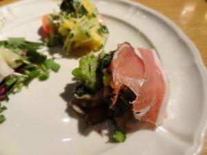 かき菜、菊芋のアンチョビオイルあえとスペック