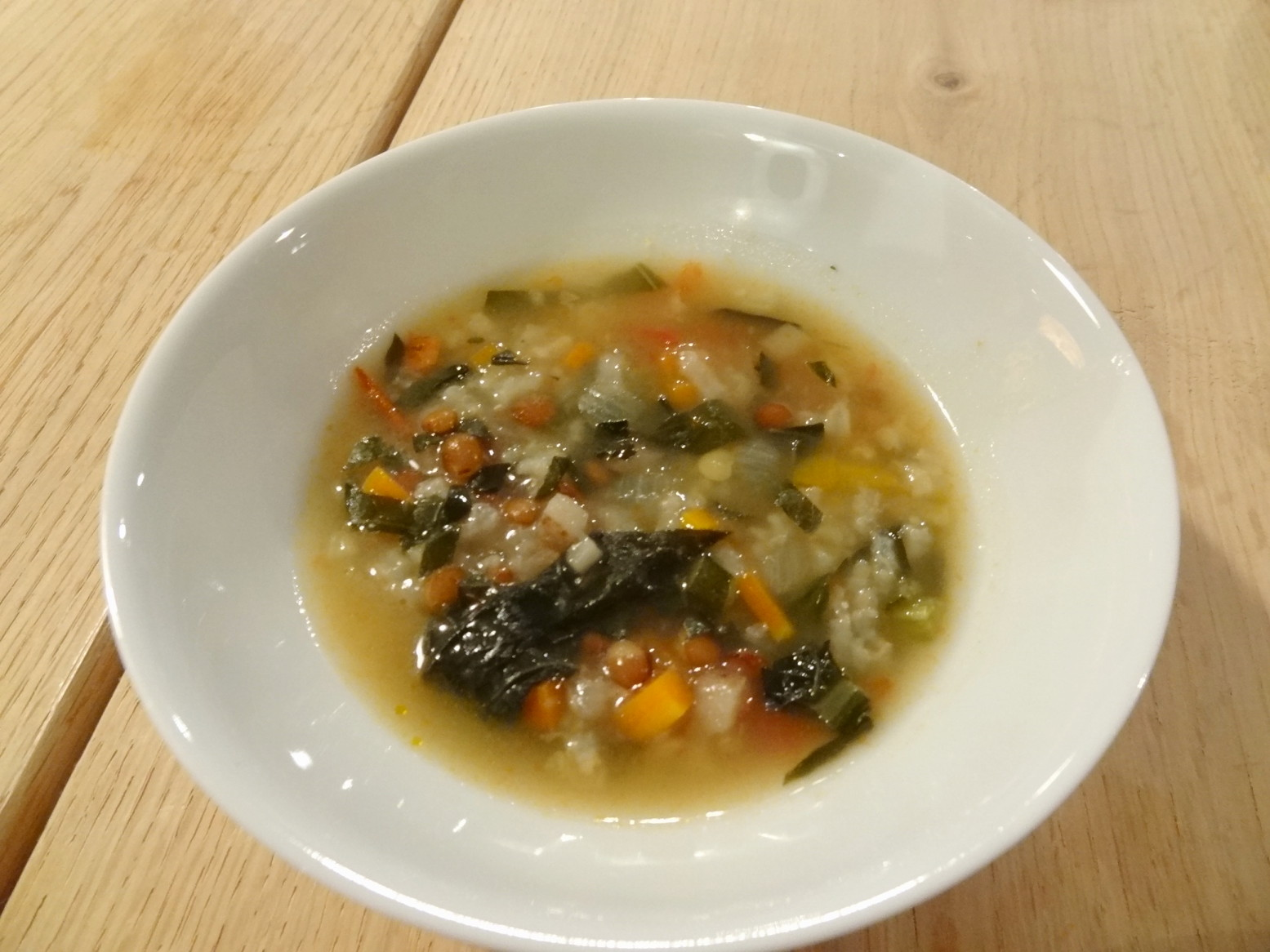 自然栽培の野菜たっぷりスープ