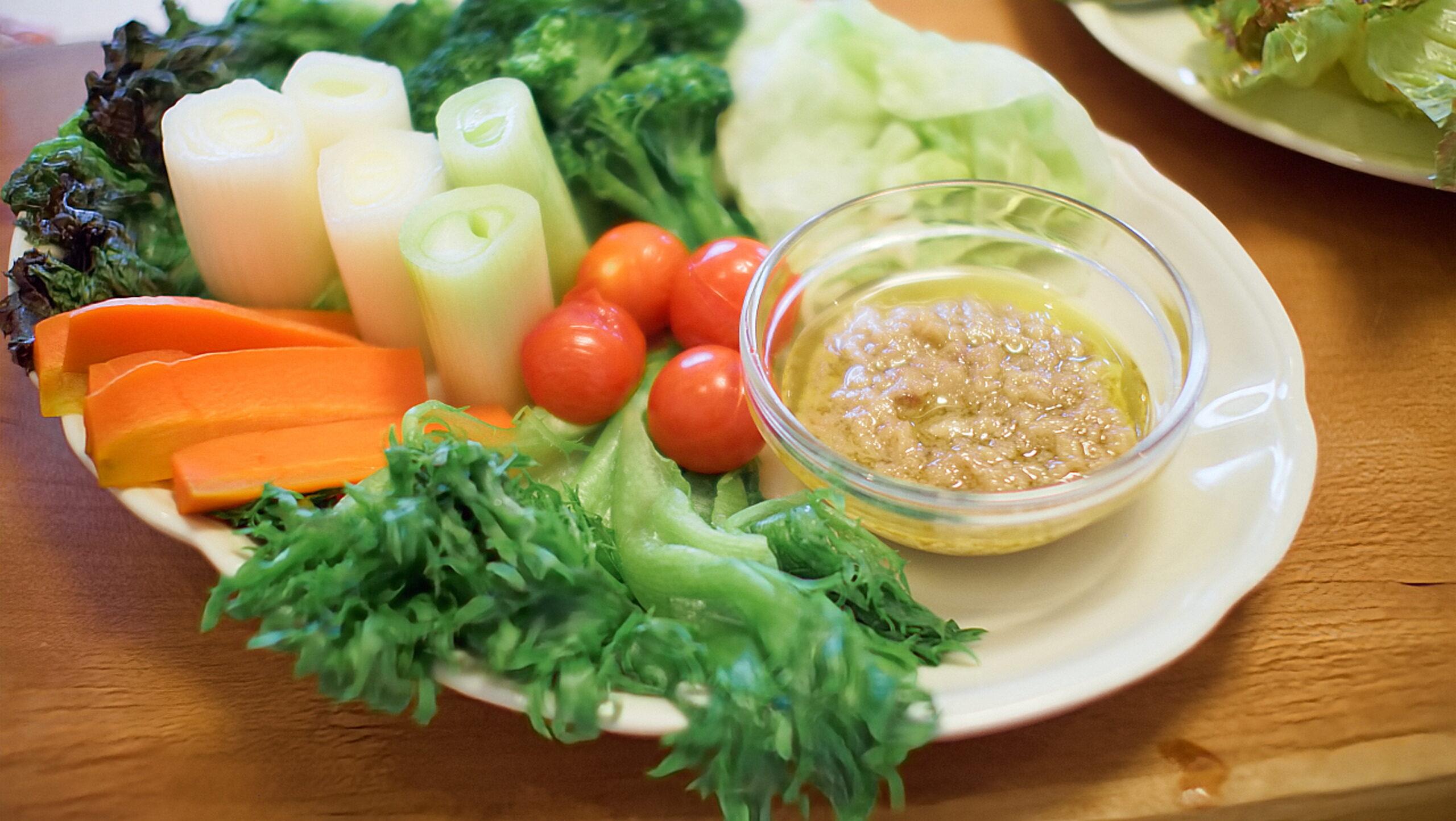 バーニャカウダ(茹で野菜)
