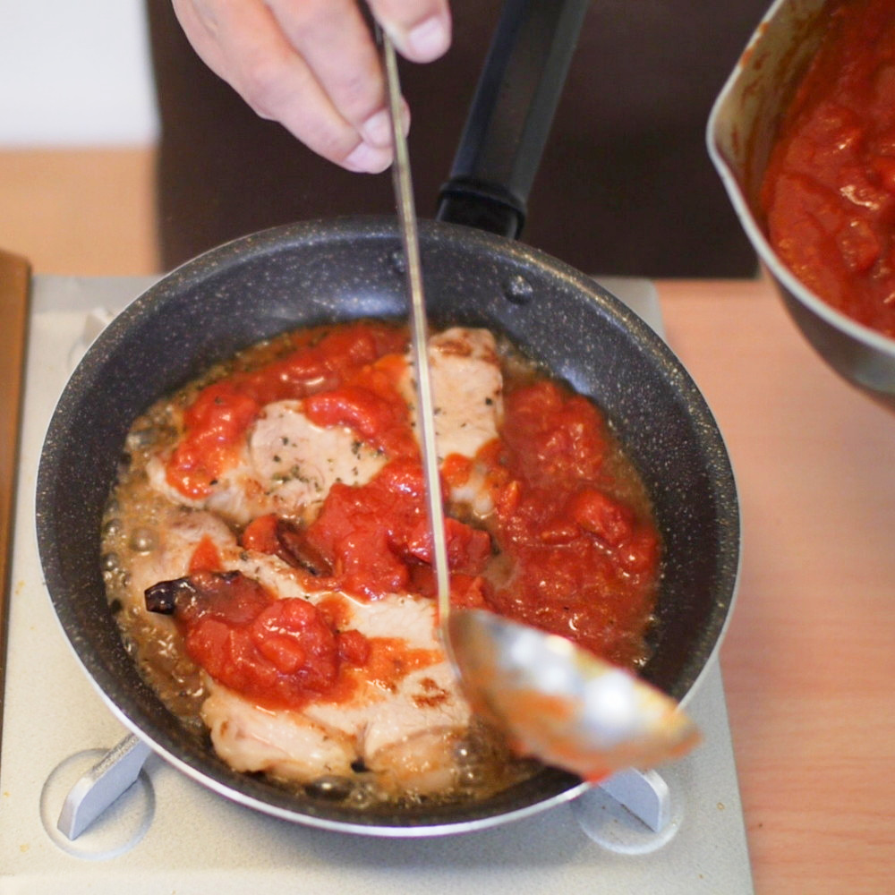 豚ロース肉のピッツァヨーロ風